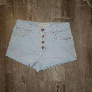 Bullhead Blue Jean Shorts - High Rise Shorts